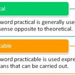 Difference Between Practicable and Practical