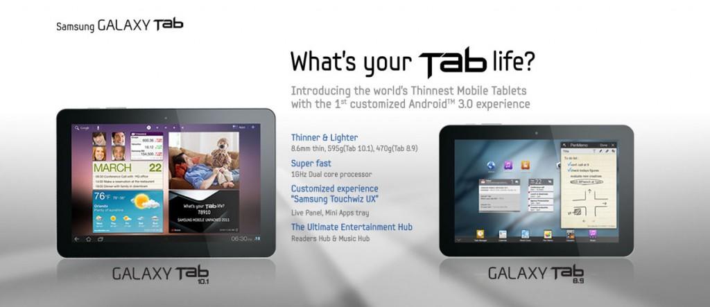 Samsung Galaxy Tab 8.9 vs Galaxy Tab 10.1