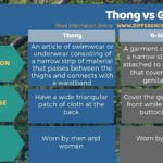 Difference Between Thong and G-string