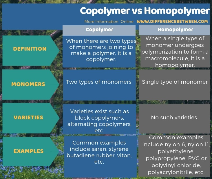 Difference Between Copolymer and Homopolymer l Copolymer vs Homopolymer