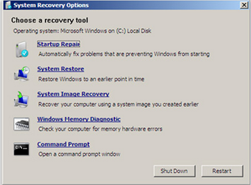 Difference Between System Recovery