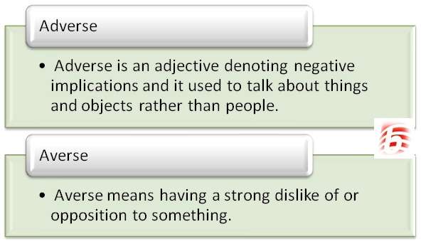 Difference Between Adverse and Averse