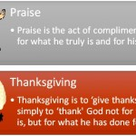 Difference Between Praise and Thanksgiving