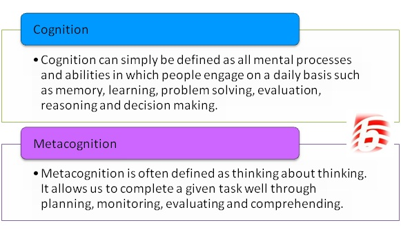 Difference Between Cognition and Metacognition