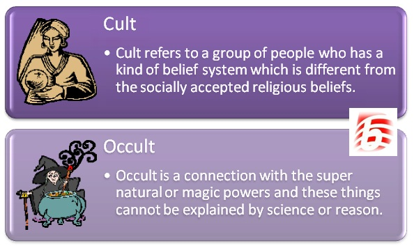 the difference between a cult and a sect The difference between a cult and a religion is the amount of people who believe or follow it this is oversimplifying things, the difference between a cult and a religion its acceptance within our society.