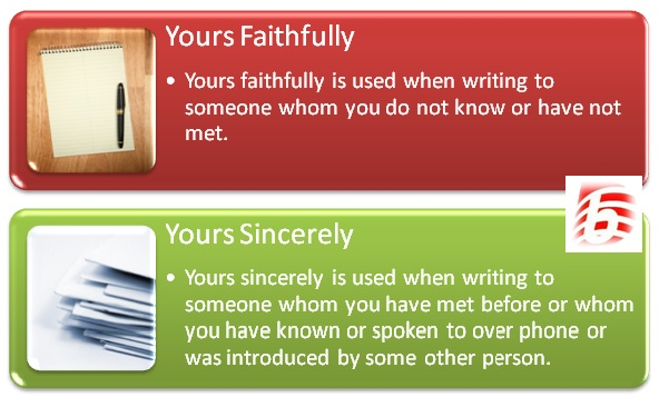 Difference between yours sincerely and yours faithfully spiritdancerdesigns Image collections