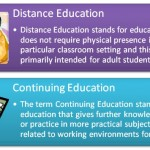 Difference between Continuing Education and Distance Education