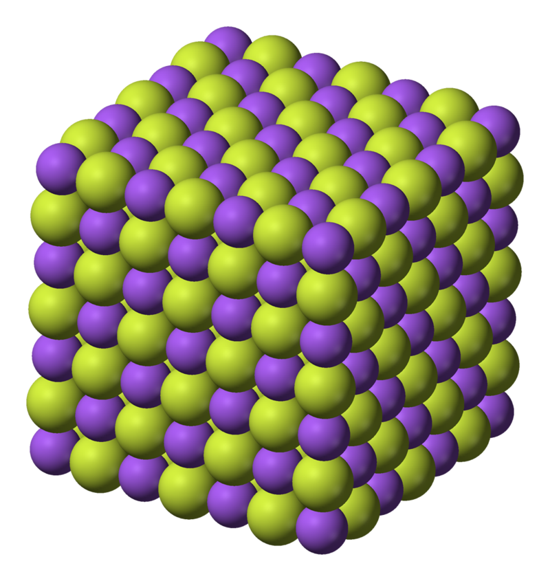 Difference Between Sodium Fluoride and Calcium Fluoride - structure