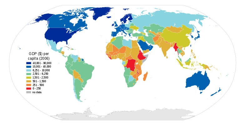 Key Difference - GDP Per Capita vs Income Per Capita