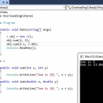 Difference Between Overriding and Overloading in C#