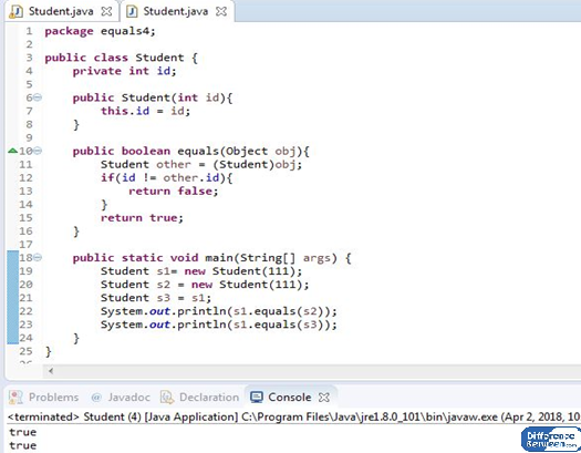 Difference Between equals and hashCode in Java_Figure 02