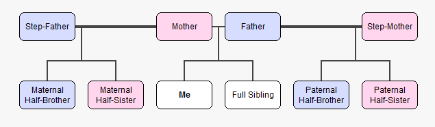 Key Difference Between Stepsister and Half-Sister
