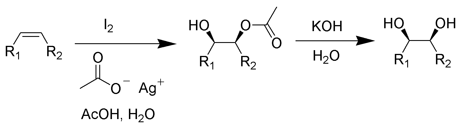 Difference Between Woodward and Prevost Reaction