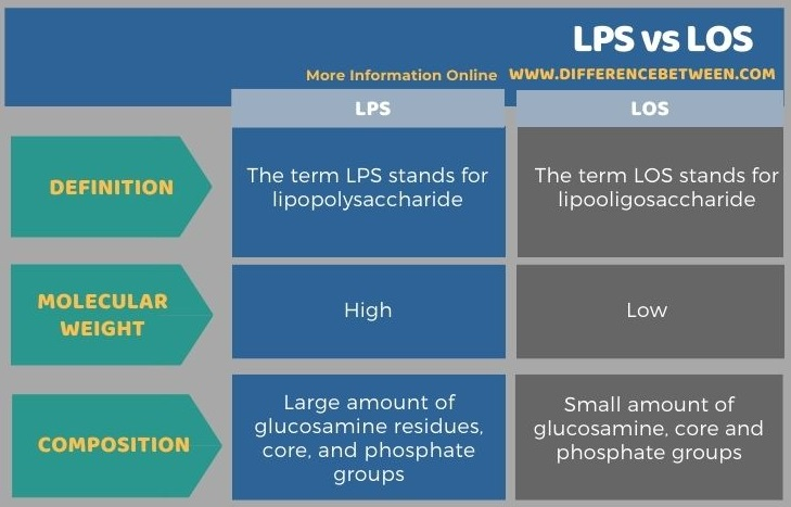 Difference Between LPS and LOS in Tabular Form