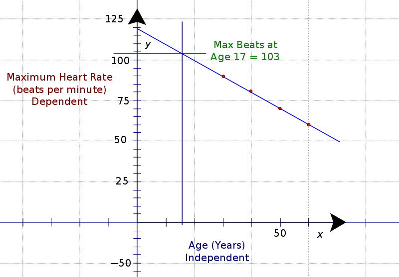 HRmax vs Age Graph