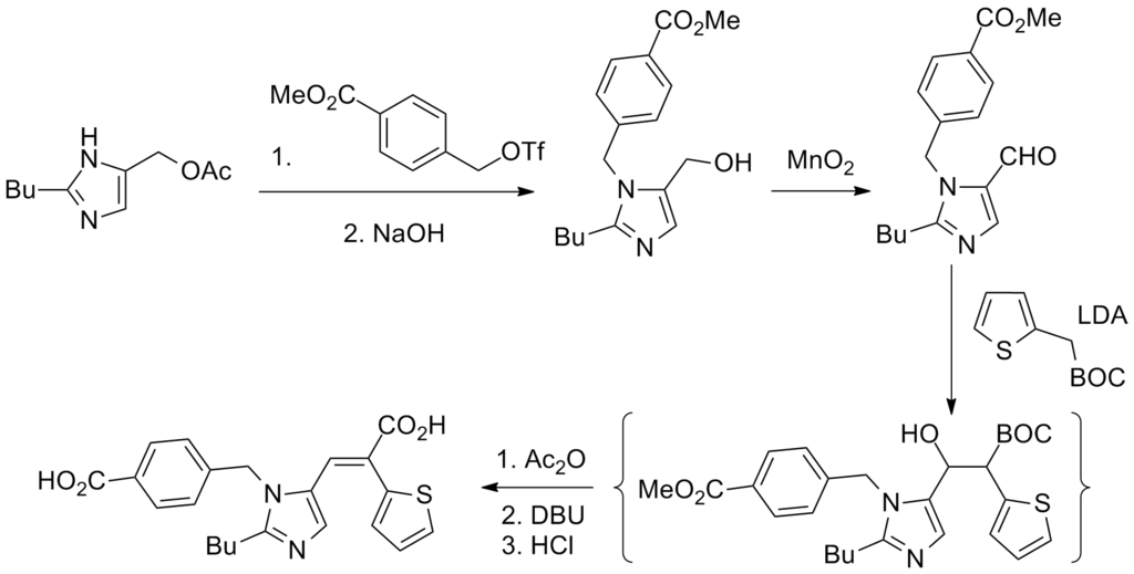 Chemical Structure of Angiotensin Receptor Blockers
